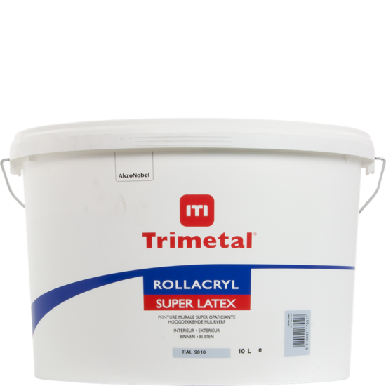 Trimetal Rollacryl Superlatex RAL 9010 10L