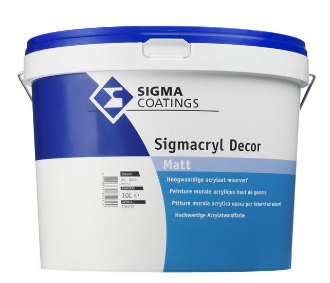 Sigmacryl Decor Matt WIT/RAL9010/RAL9016