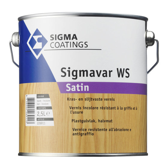 Sigmavar WS Satin Kleurloos